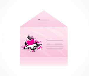 Love Theme Pink Envelope