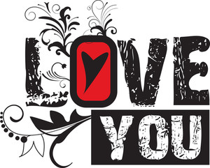Love Vector T-shirt Design