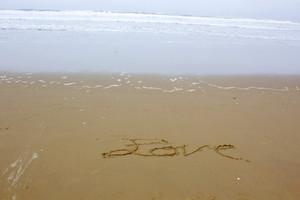 Love Writing On Beach