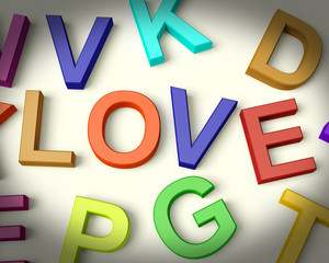 Love Written In Plastic Kids Letters