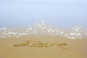 Love Wrote On Beach