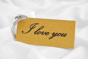 Love You Paper Note With Place For Your Text