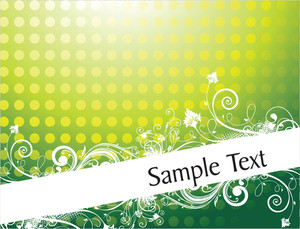 Lovely Flourish Background For Sample Text