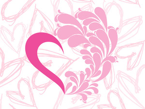 Lovely Pink Heart Vector