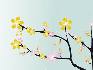 Lovely Spring Blossom Background