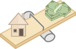 Low Cost House - Real Estate Concept - Vector Character Cartoon Illustration
