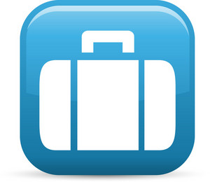 Luggage Elements Glossy Icon