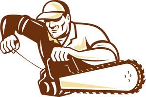 Lumberjack Tree Surgeon Arborist Chainsaw