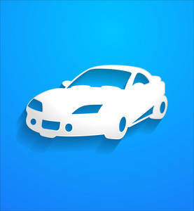 Luxury Modern Car Vector Shape