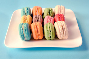 Macaroon Cookies On Plate