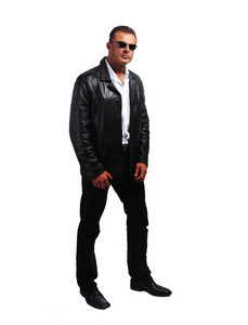 Macho sexy man with jacket