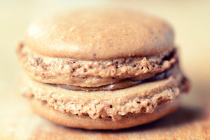 Macro Shoot Of Macaroon Cookie
