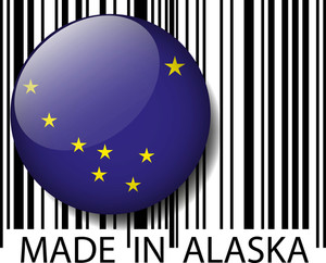 Made In Alaska Barcode. Vector Illustration