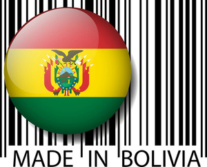 Made In Bolivia Barcode. Vector Illustration