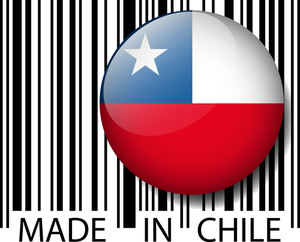 Made In Chile Barcode. Vector Illustration