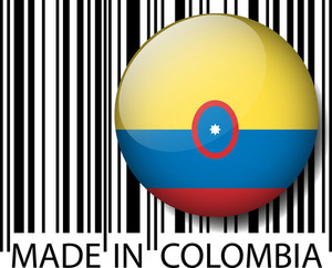 Made In Colombia Barcode. Vector Illustration