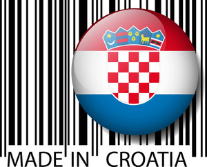 Made In Croatia Barcode. Vector Illustration