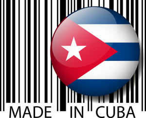 Made In Cuba Barcode. Vector Illustration
