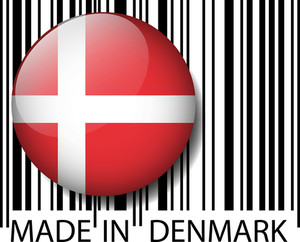 Made In Denmark Barcode. Vector Illustration