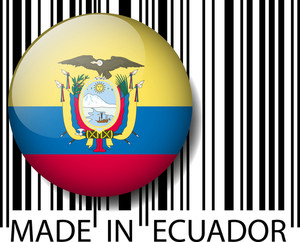 Made In Ecuador Barcode. Vector Illustration