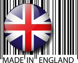 Made In England Barcode. Vector Illustration