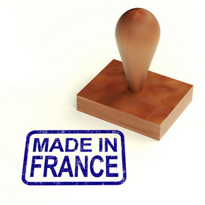 Made In France Rubber Stamp Shows French Products