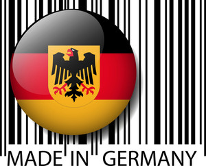 Made In Germany Barcode. Vector Illustration