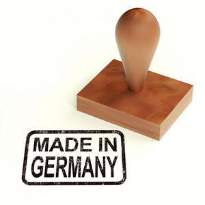 Made In Germany Rubber Stamp Shows German Products