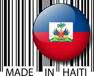 Made In Haiti Barcode. Vector Illustration