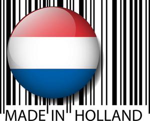 Made In Holland Barcode. Vector Illustration
