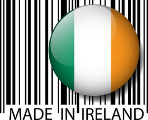 Made In Ireland Barcode. Vector Illustration