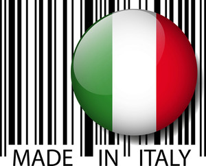 Made In Italy Barcode. Vector Illustration