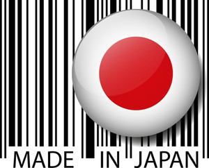 Made In Japan Barcode. Vector Illustration