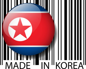 Made In North Korea Barcode. Vector Illustration