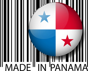 Made In Panama Barcode. Vector Illustration