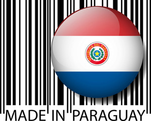 Made In Paraguay Barcode. Vector Illustration