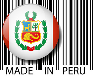 Made In Peru Barcode. Vector Illustration
