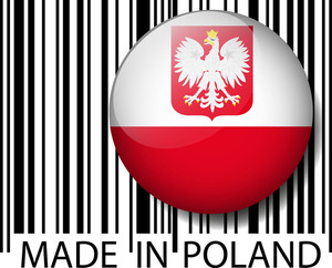 Made In Poland Barcode. Vector Illustration