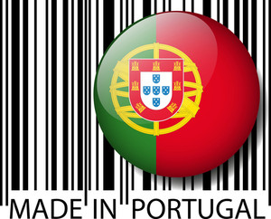 Made In Portugal Barcode. Vector Illustration