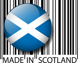 Made In Scotland Barcode. Vector Illustration