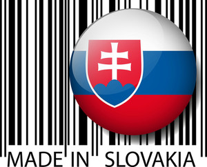Made In Slovakia Barcode. Vector Illustration