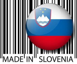 Made In Slovenia Barcode. Vector Illustration