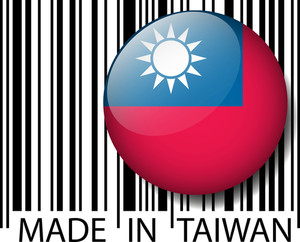 Made In Taiwan Barcode. Vector Illustration