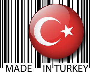 Made In Turkey Barcode. Vector Illustration