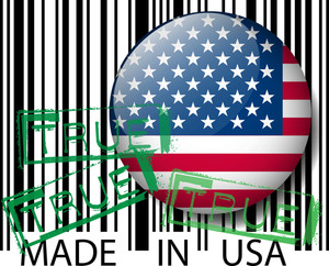 Made In Usa Barcode - True. Vector Illustration