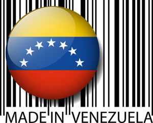 Made In Venezuela Barcode. Vector Illustration
