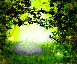 Magic Garden Green Background