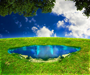 Magic Pond Fantasy Background