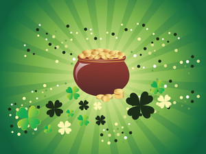 Magic Pot With Shamrock Floral 17 March