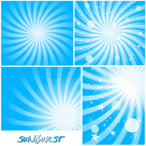 Magical Sunbursts Backgrounds